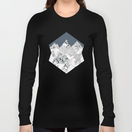 At night in the mountains Long Sleeve T-shirt