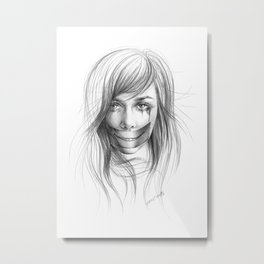Keep smiling for me Metal Print