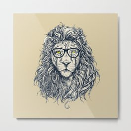 lion sketch Metal Print