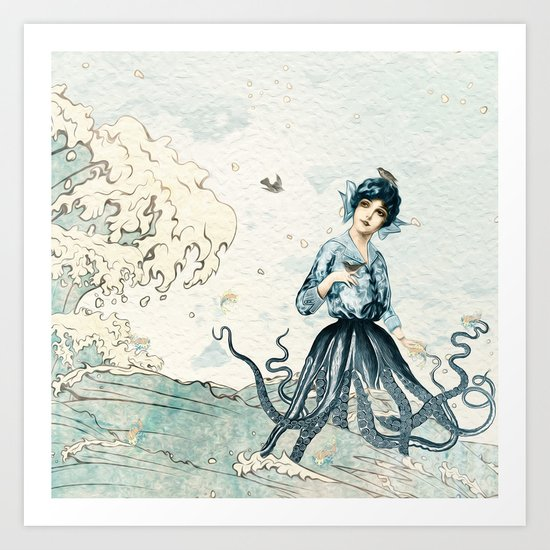 Octopus Fairy Art Print
