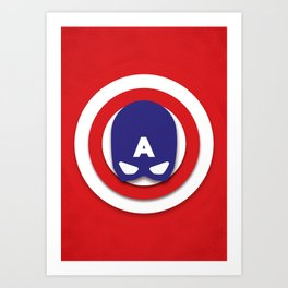 Star-Spangled Man Art Print