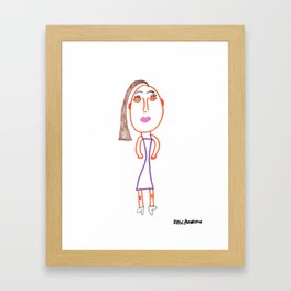 Rose's Side-Pony Lady Framed Art Print