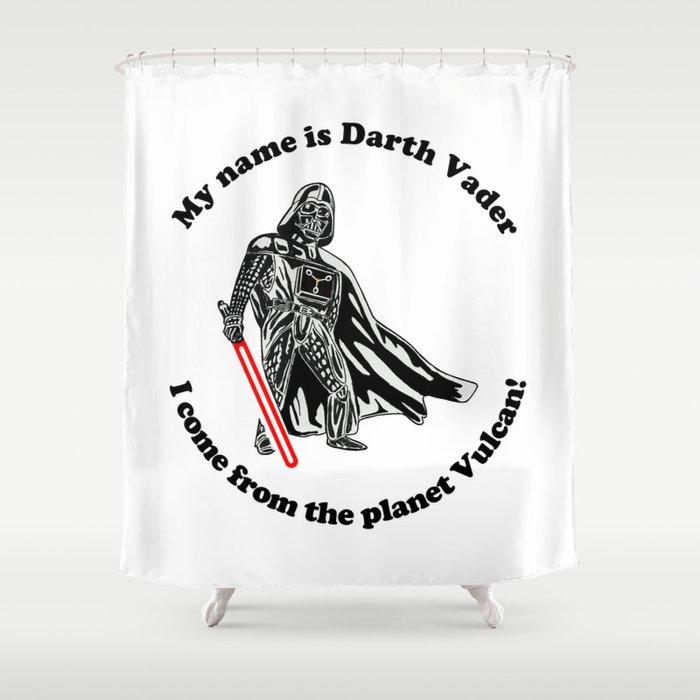Vulcan Darth Vader Shower Curtain