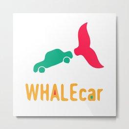 WHALEcar Metal Print