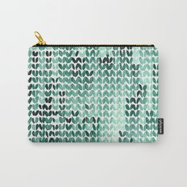 Watercolor Knitted Pattern Carry-All Pouch