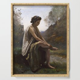 "Jean-Baptiste-Camille Corot ""The Wounded Eurydice"" Serving Tray"