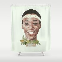 oitnb Shower Curtains featuring Poussey by mycolour