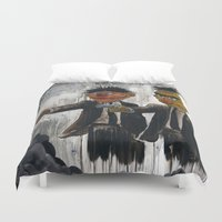 humor Duvet Covers featuring Pulp Street by Beery Method