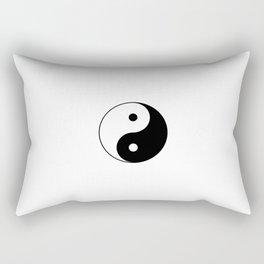 Yin and Yang 10 - Tao,Zen,Taoism,Dao,Harmony,religion,buddhism,buddhist,taijitu,taiji,taoist,china Rectangular Pillow
