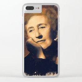 Agatha Christie, Literary Legend Clear iPhone Case