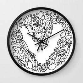 V Vegetables Wall Clock