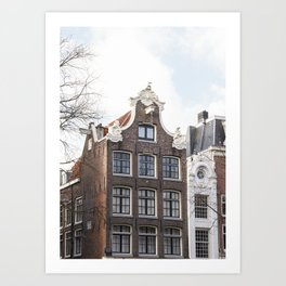 Architecture In Amsterdam Photo | Dutch Baroque Canal House Art Print | Europe Travel Photography Art Print