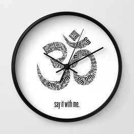 Say It With Me Wall Clock