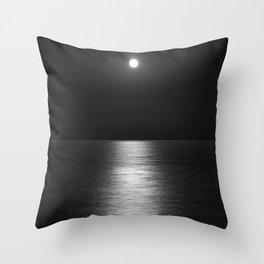 White Moon Throw Pillow