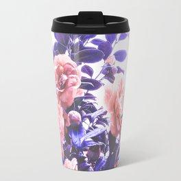 Wild Roses - Ultra Violet and Coral #decor #floral #buyart Travel Mug