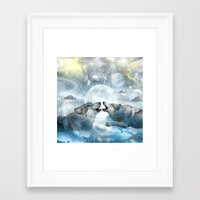 wolves Framed Art Prints featuring Wolves by haroulita