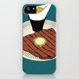 Heart-shaped steak! iPhone Case