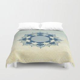 Lotus Mandala Light Blue Center Sand Water Wash Duvet Cover