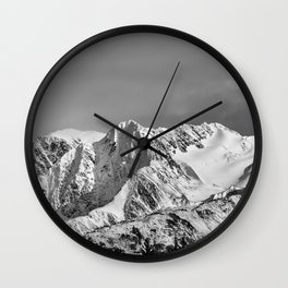 Mountain Glacier Two Wall Clock