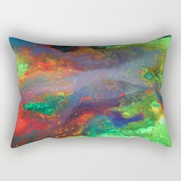 """""""Titan"""" Mixed media on canvas, abstract art painting designs, contemporary artist colorful design Rectangular Pillow"""