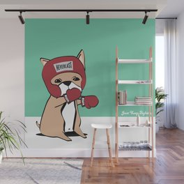 Kickboxing Frenchie Wall Mural