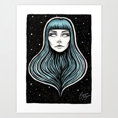 The Girl With No Body Art Print