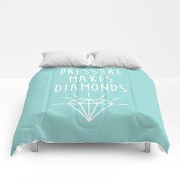 Pressure Makes Diamonds Motivational Quote Comforters