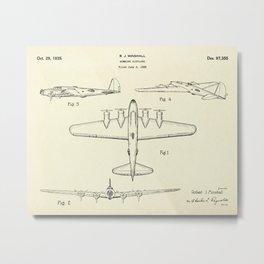 Bombing Airplane-1935 Metal Print