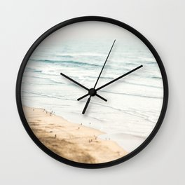 California, Los Angeles, beach, seaside, ocean, surf Wall Clock