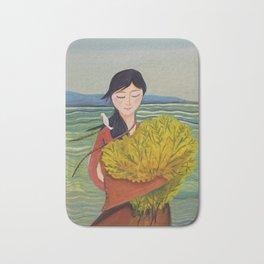 AoiShima KiiroiHana | Yuko Nagamori Bath Mat