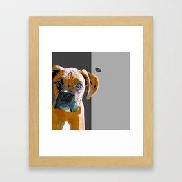Boxer lovers Framed Art Print