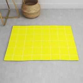Graph Paper (White & Yellow Pattern) Rug