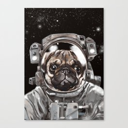 Astronaut Pug Selfie Canvas Print