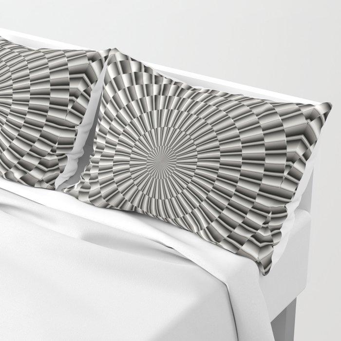 High tech silver metal surface Pillow Sham