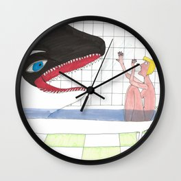 Orca In My Shower Wall Clock