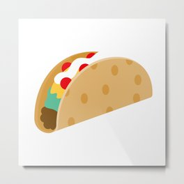 Time for Tacos Metal Print