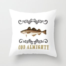Cod Almighty Throw Pillow