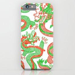 Battling Dragons iPhone Case