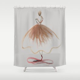 Elegant Ballerina Shower Curtain