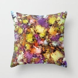 Dismantling the flowers Throw Pillow