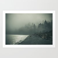 Piper's in the fog Art Print