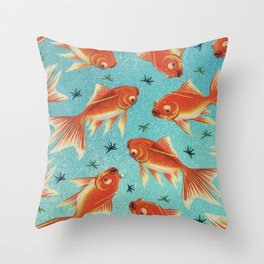 Goldfish Pattern Throw Pillow
