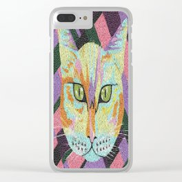 Peeping Putty Tat Clear iPhone Case