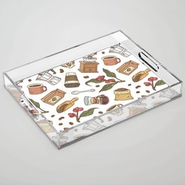 Coffee Break Pattern  Acrylic Tray