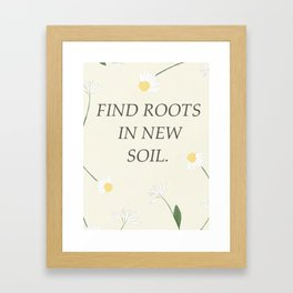 find roots Framed Art Print
