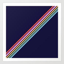 Bathala - Minimal Classic 80s Style Graphic Design Stripes Kunstdrucke