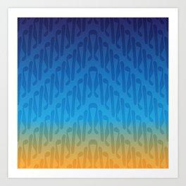 Parang Sunrise (Batik) Art Print