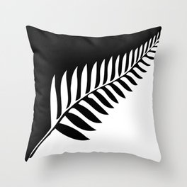 Silver Fern of New Zealand Throw Pillow