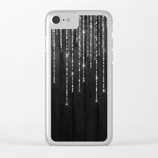 Fairy Lights on Wood 02 Clear iPhone Case