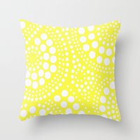 yellow pattern Throw Pillows featuring Pattern Yellow by Wildflowers and Grace